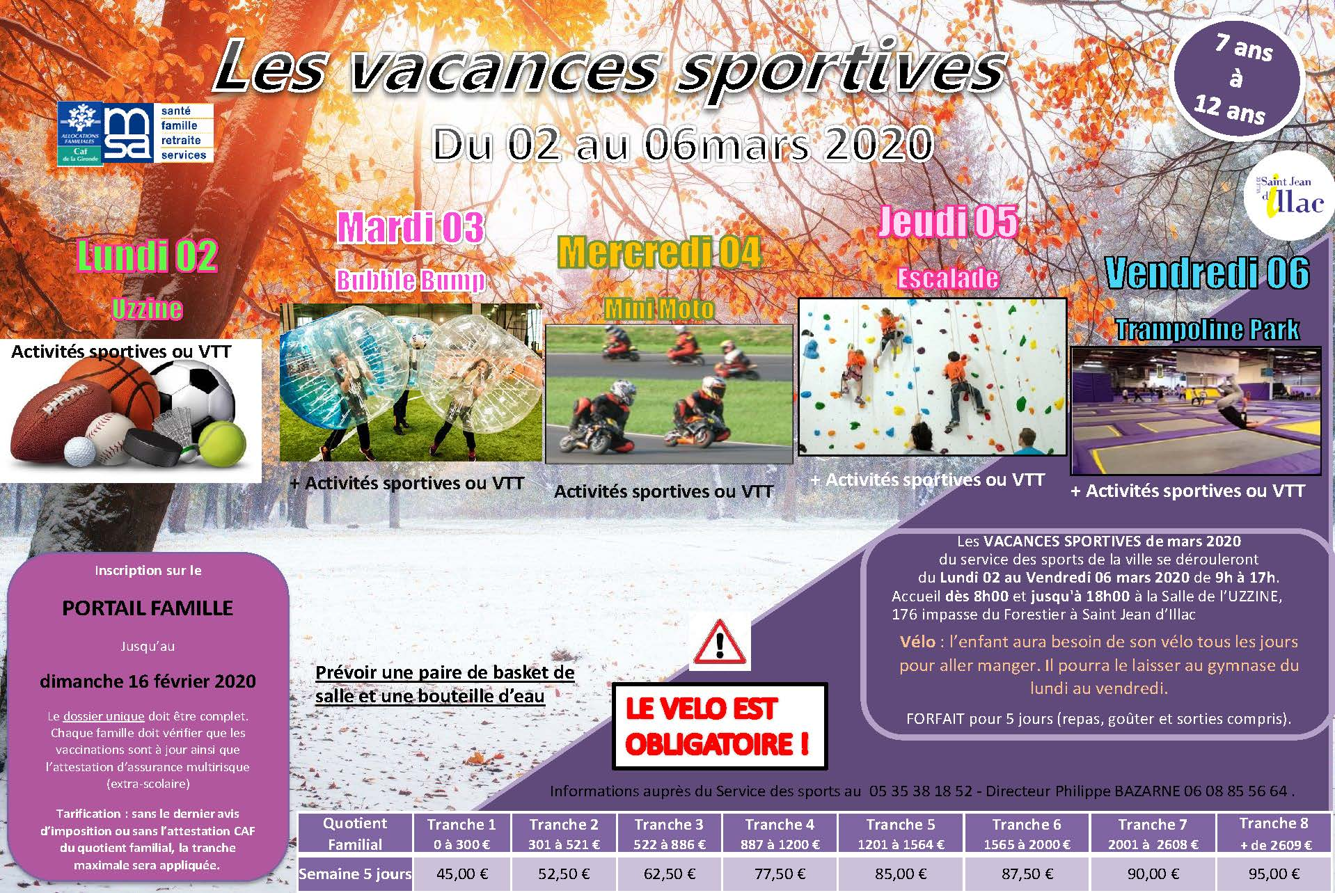 Vacances Sportives Hiver 2020 Semaine 10