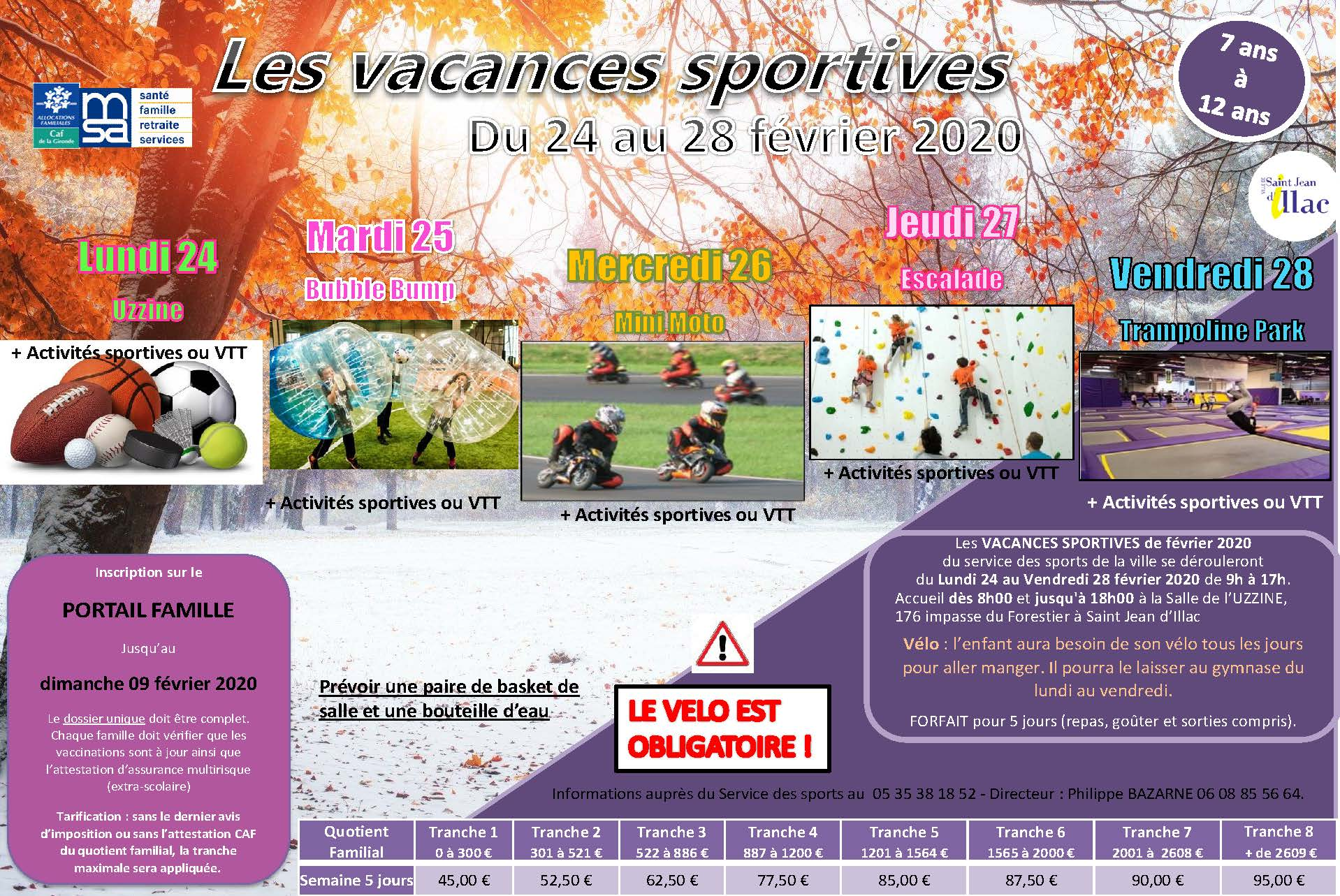 Vacances Sportives Hiver 2020 Semaine 9